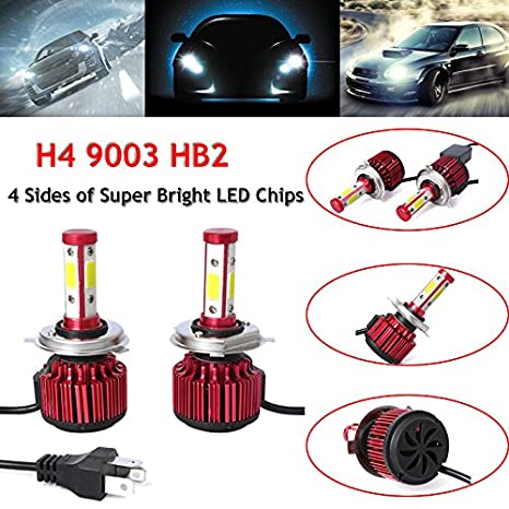 Kit de bombillas LED para faros delanteros de coche, luz antiniebla blanca de 6000 K, ...