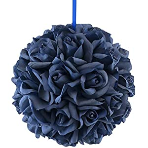 50 Navy Blue Rose Heads Ball Pomander Wedding Party Table Centerpiece 10 inch 20