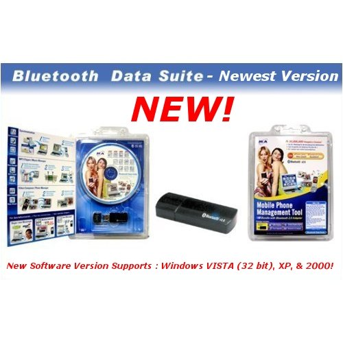 Complete Handset Manager Kit / Bluetooth Data Suite for your Sony Ericsson Phone W600i ! Use this to manage/edit/sync/transfer your phone's personal data multimedia content! (Sprint Sony Ericsson)