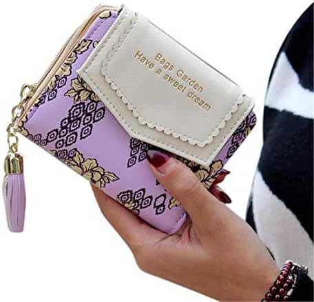 Ladies Clutch Wallet,Hemlock Women Pocket Wallet Credit Card Purse MIni Handbag (Purple)