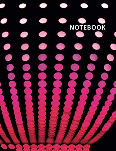College Ruled Notebook: Disco party lights Excellent Student Composition Book Daily Journal Diary Notepad for notes on how to throw an 80s party -