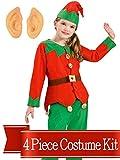 BirthdayExpress Elf Costume Christmas Kids Unisex Complete Costume Kit - One Size