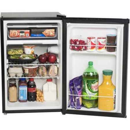 cubic foot stainless compact refrigerator