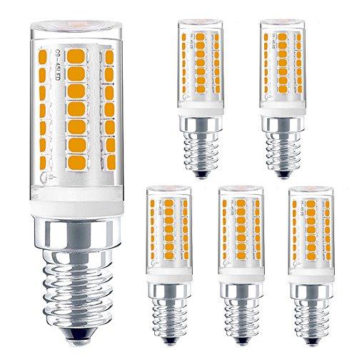 (Dimmable E12 LED Chandelier Bulbs Lustaled 4W E12 Candelabra Base LED Light Bulbs 120V T3/T4 LED E12 Corn Bulb 35W Halogen Equivalent for Home Decoration Lighting (Daylight 6000K, 5-Pack))