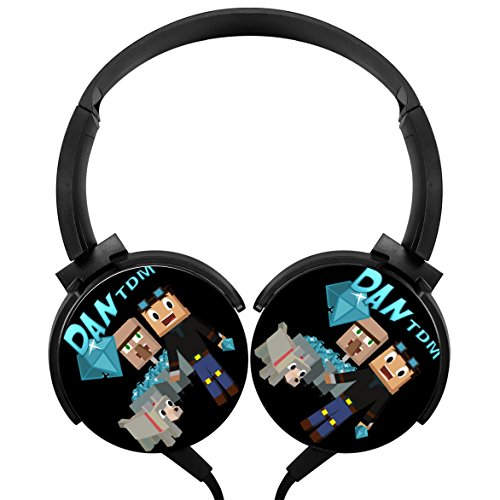LightWeight Dan-TDM Over-ear Strong Sound Stereo Headphone Rotation Axis Design Wired - Audio Tdm