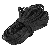 uxcell® Black Wire Nylon Braided Expandable Cable Sleeve