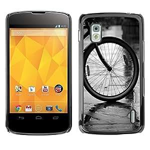King Case - FOR LG Nexus 4 E960 - Bicycle Cute Pattern - Caja protectora de pl??stico duro Dise?¡Àado