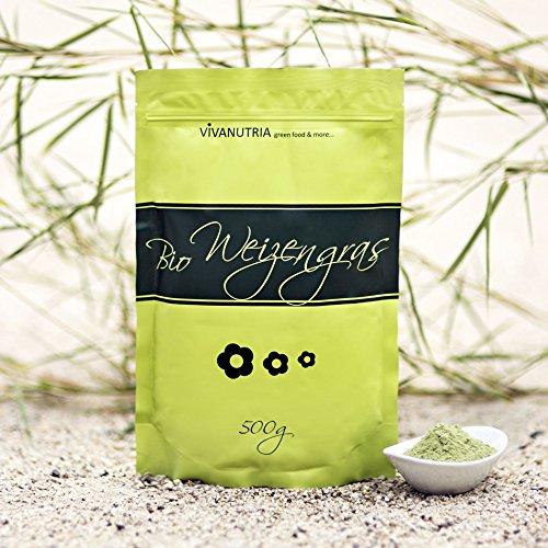 Bio-Weizengraspulver, Bio-Weizengras, 500g, aus kontrolliert biologischem Anbau, laborgeprüft, Rohkostqualität!