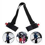 Sotijobs Adjustable Ski Shoulder Carrier Lash,Handle Straps Skateboard Strap/ Sling,Hand Binding Belt for Skiing Enthusiasts (black)