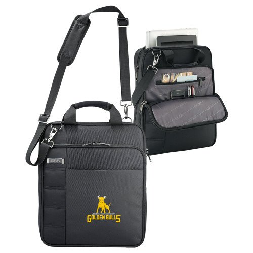 Johnson C Smith Kenneth Cole Black Vertical Checkpoint Friendly Messenger 'Primary Mark' by CollegeFanGear