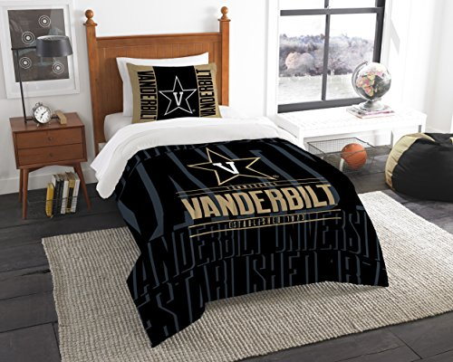 The Northwest Company Officially Licensed NCAA Vanderbilt Commodores Modern Take Twin Comforter and Sham ()