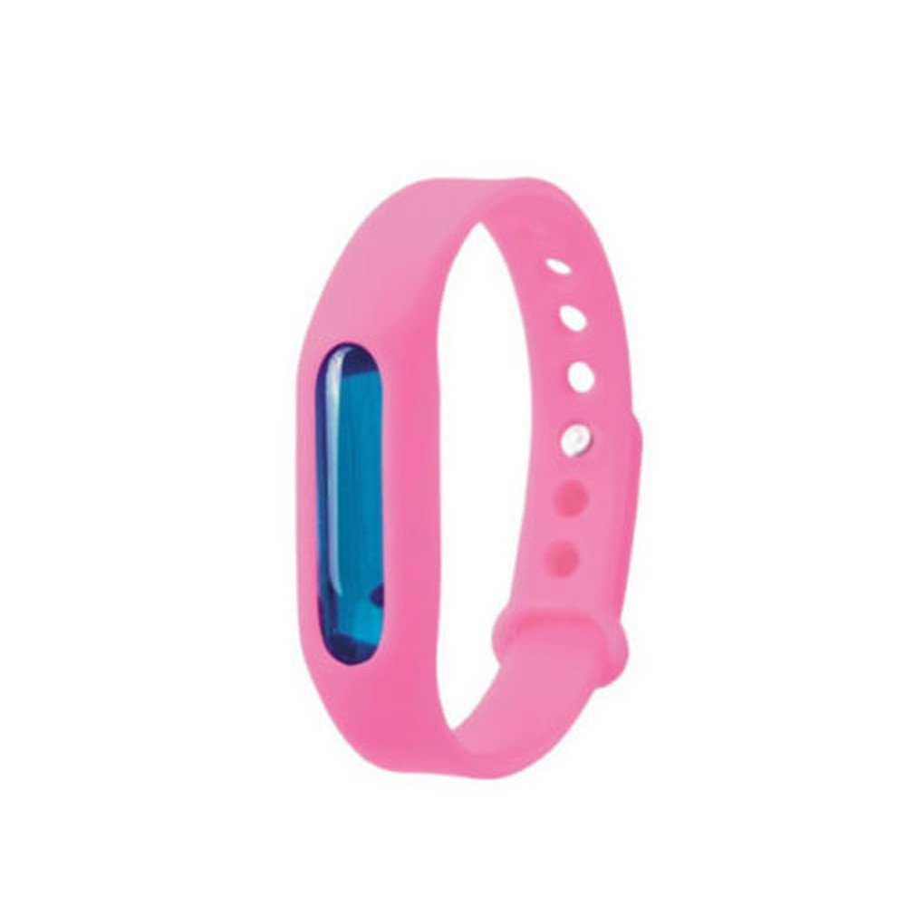 Toimothcn Anti Mosquito Pest Insect Bugs Repellent Repeller Wrist Band Bracelet Wristband(Pink,Free Size)