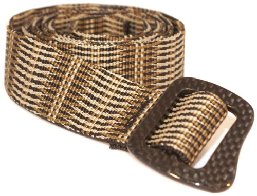 Bison Designs 30mm Web Carbonator Belt with 100-Percent Carbon Fiber Buckle (Sand 42-Inch Maximum WaistLarge)