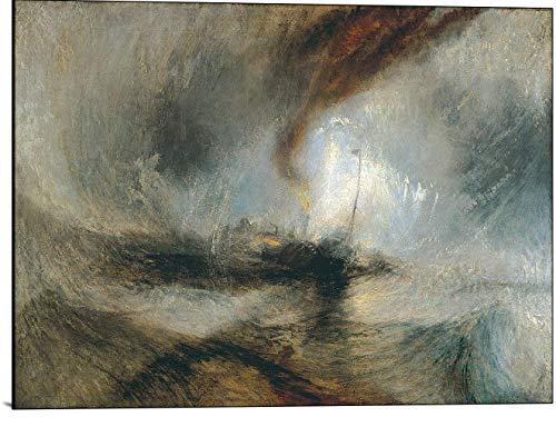 Cutler Miles Snow Storm Steam Boat Off A Harbour's Mouth Jmw Turner Print on Wood (Snow Storm Steam Boat Off A Harbours Mouth)