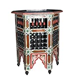 Moroccan Octagonal Moucharabieh Handpainted Table Arabic Design Furniture