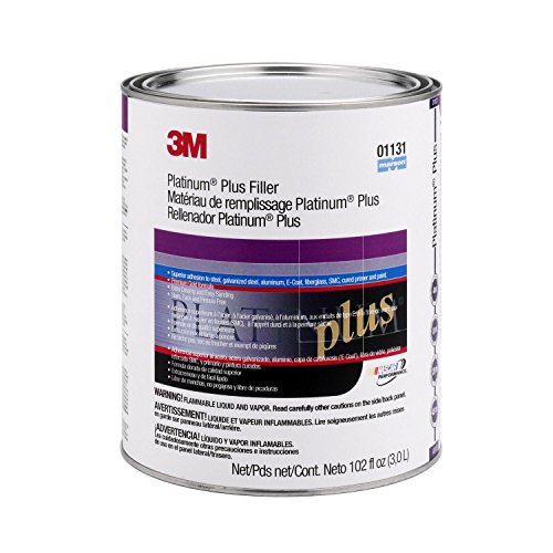 3M 01131 Platinum Plus Filler - 102 oz Body Filler Gallon