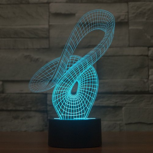 Comics+3D+Night+Lamp+ Products : Abstract Led Night Light 3D Illusion Bulbing 7 Colors Touch Switch Table Lamp