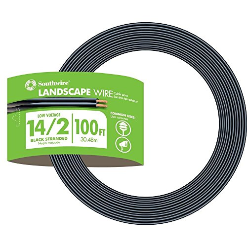 Southwire 55213243 14/2 Low Voltage Outdoor Landscape Lighting Cable, 100-Feet, 100 ft, N (Wire Low Voltage Landscape Lighting)