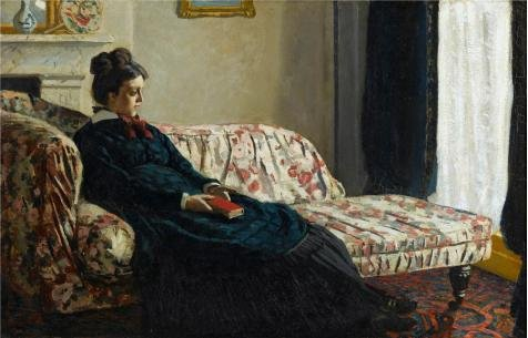 Mrs Hudson Costume (Oil Painting 'Meditation, Mrs. Monet Sitting On A Sofa, 1871 By Claude Monet' Printing On Perfect Effect Canvas , 12x19 Inch / 30x48 Cm ,the Best Study Decoration And Home Artwork And Gifts Is This Reproductions Art Decorative Canvas Prints)