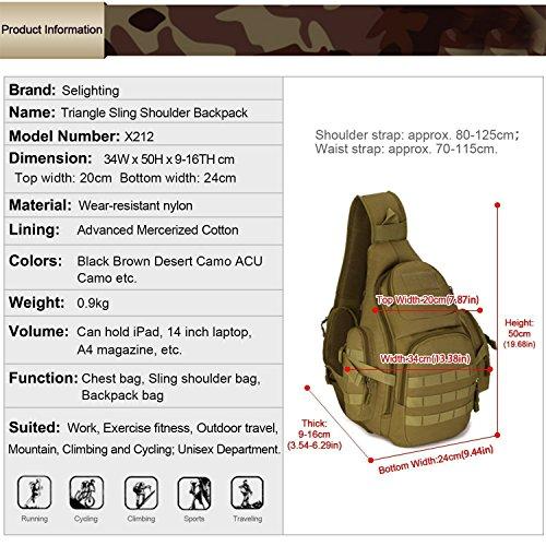 Petto Campeggio Selighting Trekking Militari Bike Caccia Multifunzionali Marrone Impermeabile Il Uomo La Per Mountain Sacchetto Tattiche Zaino Tracolla Donna rqxZARgr