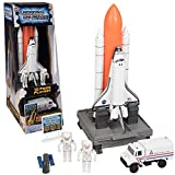 Space Exploration Set - Legends of Space - 10 Piece Complex 39 Launch Site with Astronauts, Rockets, Space Shuttle, and Ground Vehicle