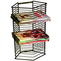 Atlantic Onyx 28 Wire DVD-Tower - Holds 28 DVDs/Blu-Rays or PS3 Games, Wall Mount or Freestanding in Black Steel, PN…