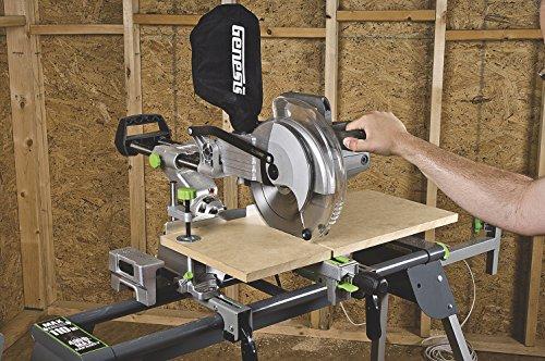 Genesis GMSDR1015LC 15-Amp 10-Inch Sliding Compound Miter Saw, Grey