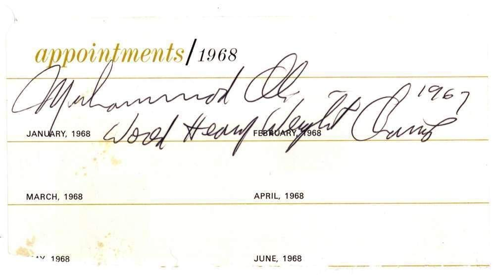 Muhammad Ali Signed Autographed World Champion 1967 Cut JSA Certified Boxing Cut Signatures