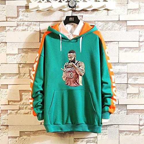 Unisex Yangtt De Chaquetas Pelota Trajes Sudaderas Estampadas Green Pullovers wUUxHT0Oq