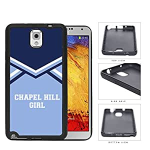 Chapel Hill City Girl School Spirit Cheerleading Uniform Samsung Galaxy Note III 3 N9000 Rubber Silicone TPU Cell Phone Case