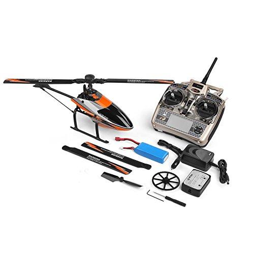 KNOSSOS V950 2.4G 6CH 6CH 6CH 3D 6G System Switch Brushless Motor RTF RC Helicopter Orange b5773e
