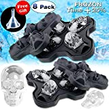 8 Pack Halloween Food Molds Decorations Party Favors Shaped Ice Cube Tray/Food Molds Large Silicone Flexible Mold Ice Cube Round Maker Mold Party Drink Whiskey Wine Cocktail Chocolate Reusable