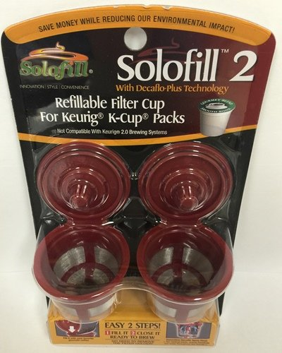 SOLOFILL 2-Pack K2 STAINLESS MESH K2 Stainless Mesh Solofill Cup