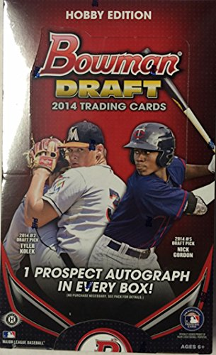 2014 Bowman Draft Picks Baseball Cards Hobby Box (24 Packs/Box, 7 Cards/Pack, 1 Bowman Chrome Rookie Autograph Per Box) -Masahiro Tanaka, Billy Hamilton, Xander Bogaerts & Jose Abreu Rookie Cards - Bowman Cards Hobby Baseball Chrome