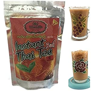 """Thai Tea Instant 3 in 1 Powder """"Number One"""" for Hot & Cold Iced Drink Pack of 500 g"""