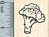 Broccoli Rubber Stamp, Nutrition Series