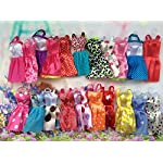 Deserve to Buy 7Pcs Child Toy Clothes Accessories Fashion Barbie Doll Dress Skirts for Girl Dress Up Toys (Random)