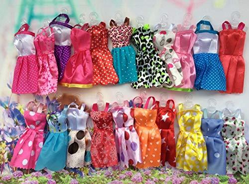Exé cution Exquise 7pcs enfant jouet vê tements accessoires de mode poupé e barbie robe jupes pour fille habiller jouets (alé atoire) AILIN1