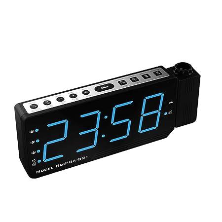Brandless Indicadores claros Reloj Despertador proyector LED ...