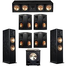 Klipsch 7.1 Black Ash System with 2 RF-7 III Floorstanding Speakers, 1 RC-64 III Center Speaker, 4 Klipsch RP-250S Surround Speakers, 1 Klipsch PL-200II Subwoofer