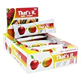That's it Apple + Mango 100% Natural Real Fruit Bar, Best High Fiber Vegan, Gluten Free Healthy Snack, Paleo for Children & Adults, Non GMO Sugar-Free, No Preservatives Energy Food (12 Pack)
