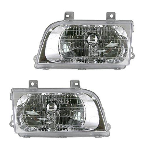 Headlights Headlamps Left & Right Pair Set For 98-02 Kia Sportage
