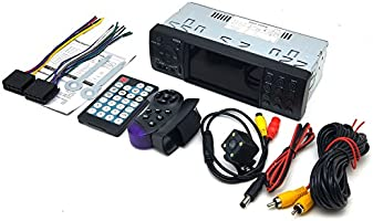 CACA Car Stereo Universal Single Din Indash with Bluetooth FM Radio MP5 Player Video Audio USB//SD//AUX in Wireless Remote Control