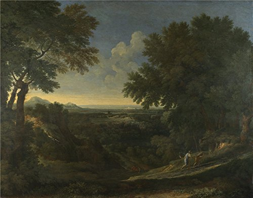 Oil Painting 'Gaspard Dughet - Landscape With Abraham And Isaac,about 1665' 24 x 31 inch / 61 x 78 cm , on High Definition HD canvas prints is for Gifts And Basement, Laundry Room And Living R decor