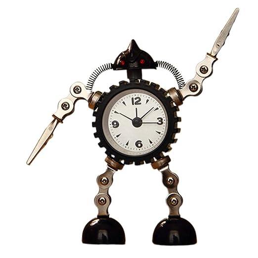 czos88 Reloj Despertador Sobremesa Niños Metal BOT Infantil ...