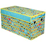 EmojiPals Blue All Over Oversized Collapsible Storage Toy Trunk