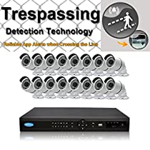 OwlTech 16 Channel Trespassing Detection NVR support up to 5MP Resolution + 16 x 5MP 3.6mm IP Bullet Camera with Smart IR + WDR + POE + Mic Built + 4TB HDD + 100ft cable and accessories