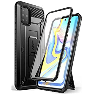 SUPCASE Unicorn Beetle Pro Series Designed for Samsung Galaxy A51 Case (Not Fit A51 5G Version), Full-Body Rugged Holster & Kickstand Case with Built-in Screen Protector (Black)