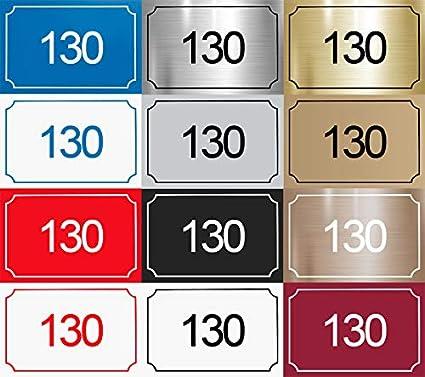 Gris mat Plaque de num/éro de rue 14 couleurs disponibles Plaque grav/ée /à personnaliser 15 x 10 cm
