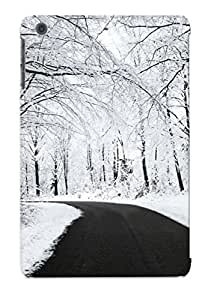 For Ipad Case, High Quality Snowy Forest Road For Ipad Mini/mini 2 Cover Cases / Nice Case For Lovers' Gifts